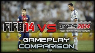 FIFA 14 vs PES 2014 - Gameplay Comparison HD