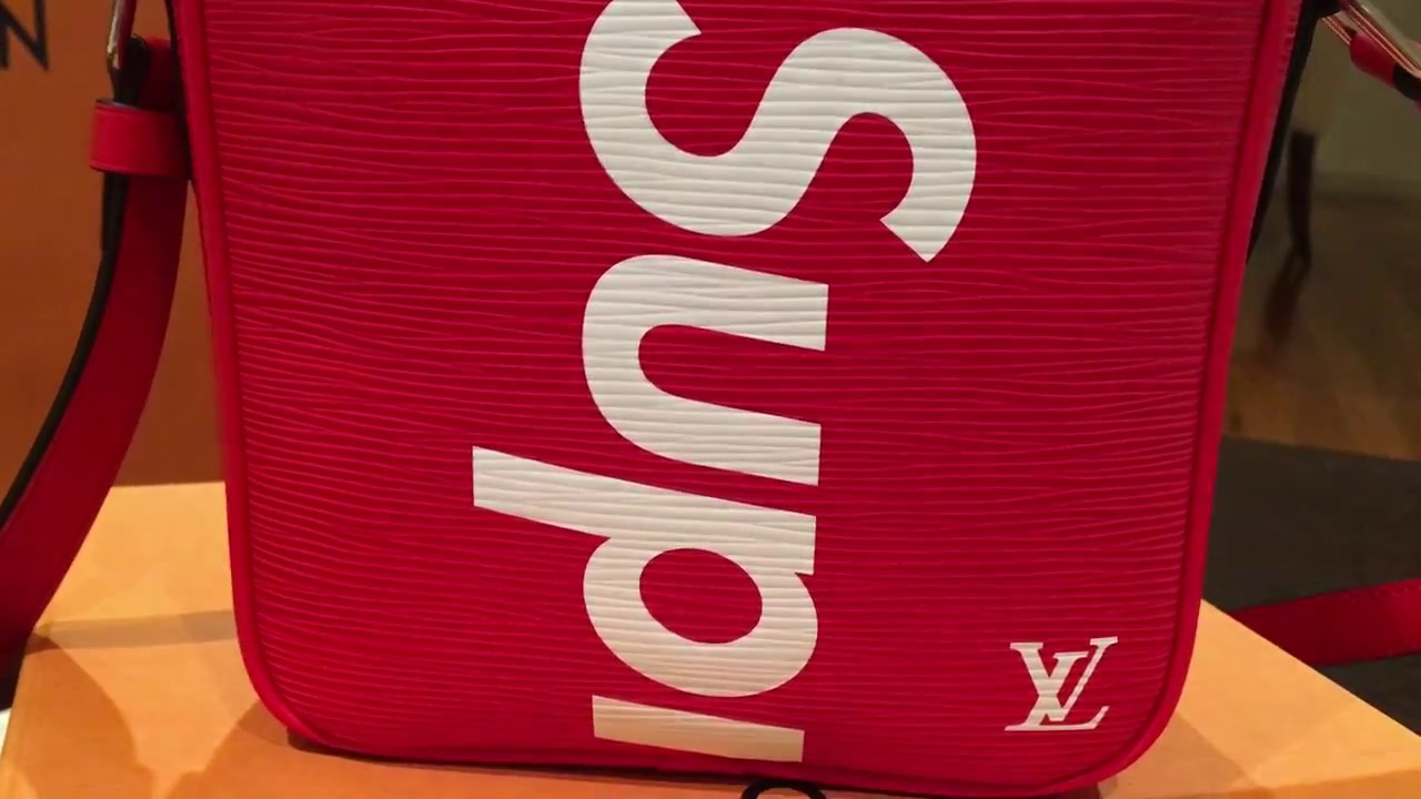 Review Louis Vuitton X Supreme Satchel Shoulder Bag In Detail