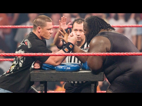 John Cena vs. Mark Henry  Arm Wrestling Contest: Raw, Feb. 4, 2008