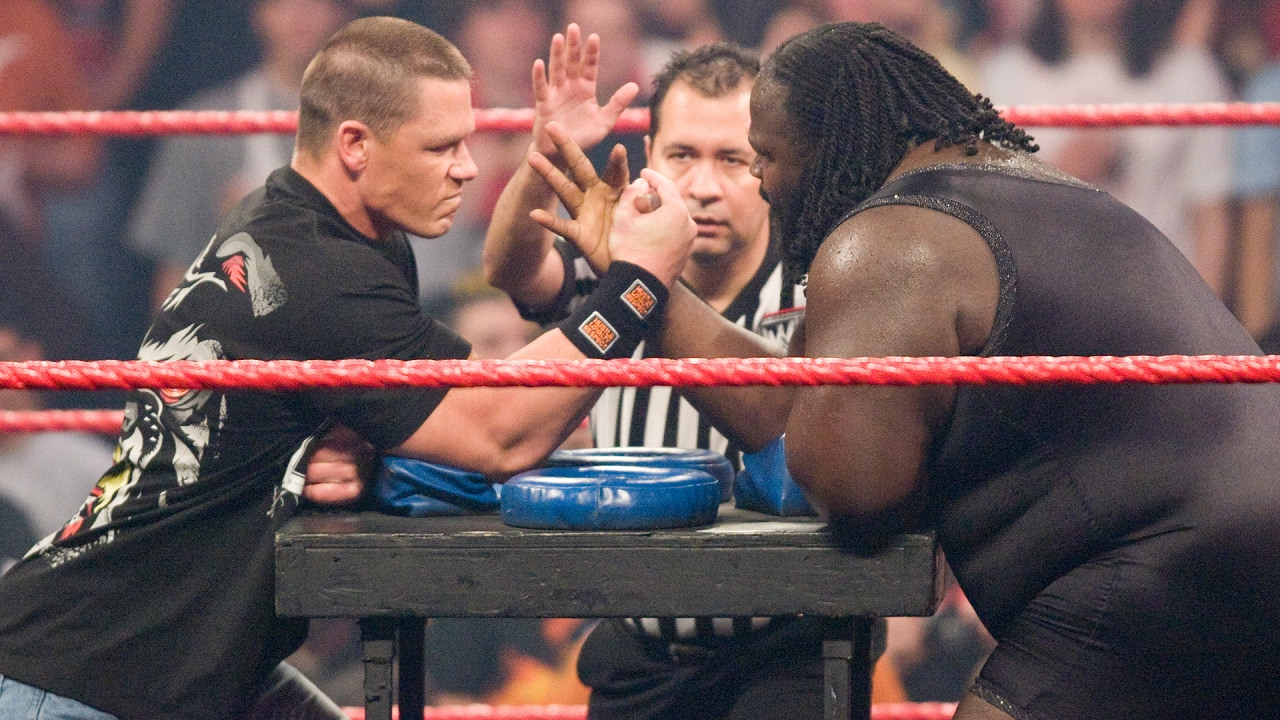 John Cena Vs Mark Henry Arm Wrestling Contest Raw Feb   Youtube