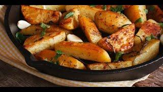 Картошка по деревенски в духовке невероятно просто и вкусно kartoshka po derevenski
