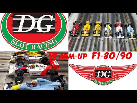 WARM-UP – F1 80/90 DG SLOT RACING 🇧🇷 🏁 🇮🇹