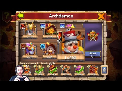 ArchDemoN With LiL NICK Full 3 Minute Stun Castle Clash