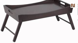 Winsome Benito Bed Tray With Curved Top, Foldable Legs 92022