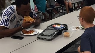 FSU Player Eats Lunch with Autistic Student