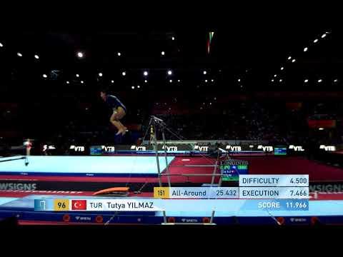 YILMAZ Tutya (TUR) - 2019 Artistic Worlds, Stuttgart (GER) - Qualifications Uneven Bars