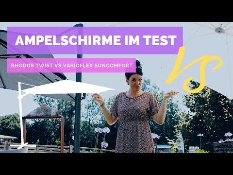 Ampelschirme Im Test Rhodos Twist Von Schneider VS Varioflex Suncomfort