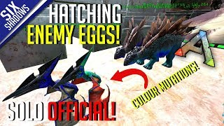 HATCHING ENEMY EGGS! | Solo PvP Official Servers - Ark: Survival Evolved