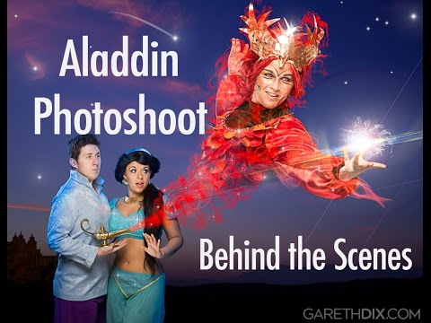 Aladdin Photoshoot Behind the Scenes with Gareth Dix (GoPro Timelapse)