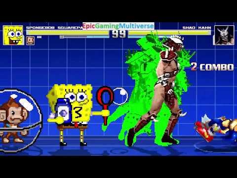 Sega Characters And SpongeBob SquarePants VS Shao Kahn In A MUGEN Match / Battle / Fight