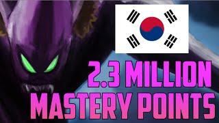 DIAMOND KOREAN TOP KHA'ZIX 2,300,000 MASTERY POINTS- Highest Mastery Points (14 Kills 20 Mins?!)