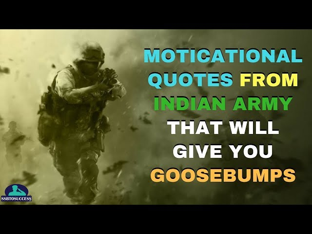 15 Inspirational Indian Army Quotes | Indian Army Quotes