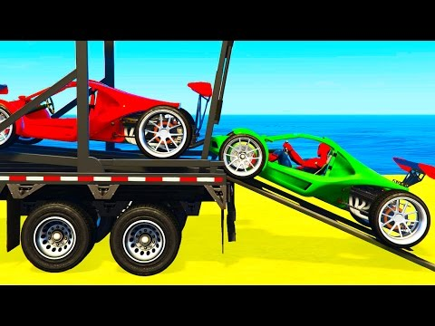 Thumbnail: COLOR SPORT CARS Transportation for Kids in Spiderman Cartoon & Colors for Children Nursery Rhymes
