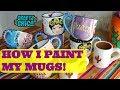 My Ceramic Painting Technique (Frida mugs)!