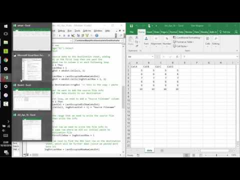 How to Combine Multiple Excel Workbooks into One Worksheet with ...