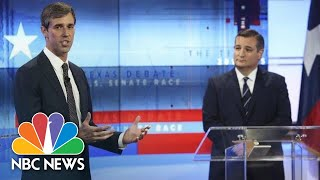 Senator Ted Cruz, Beto O'Rourke Trade Barbs In Senate Debate | NBC News