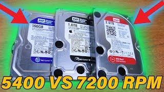 5400RPM vs 7200RPM Drive Show Down - Is Faster Better?