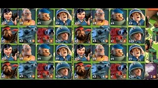 ALL UNITS NOAH'S ARK | Boom Beach | GRENADIERS BEST FRIEND