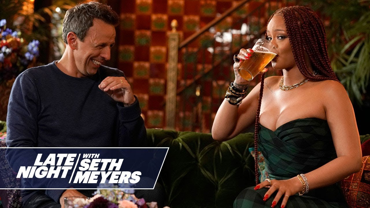 Image result for rihanna and seth day drinking