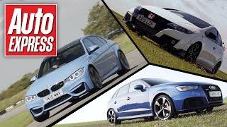 Honda Civic Type R vs BMW M3 vs Audi RS3: track battle