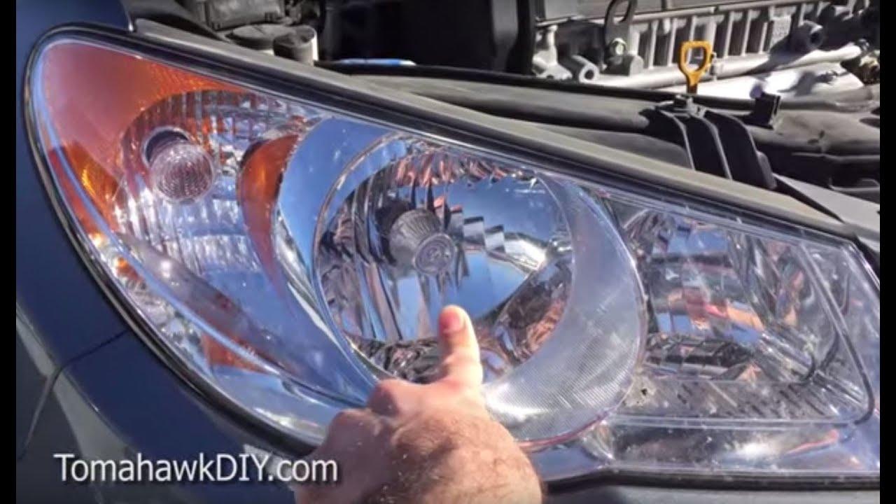 Replace Head Light Head Lamp Hyundai 2 Easy Ways