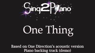 One Thing - One Direction (Piano backing track) karaoke cover