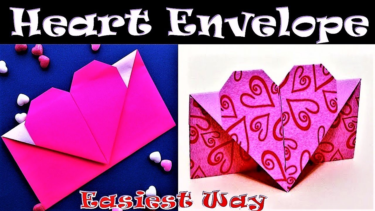 Heart EnvelopeWith Paper Fold