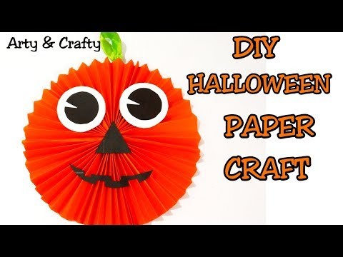 DIY HALLOWEEN CRAFT FOR KIDS/Paper Pumpkin /Paper Craft/Halloween Crafts