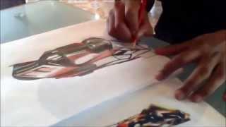 dibujo de hot wheels acceleracers by izaqk chicane