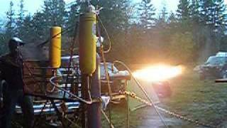 Liquid Nitrous Oxide/Kerosene Rocket Engine