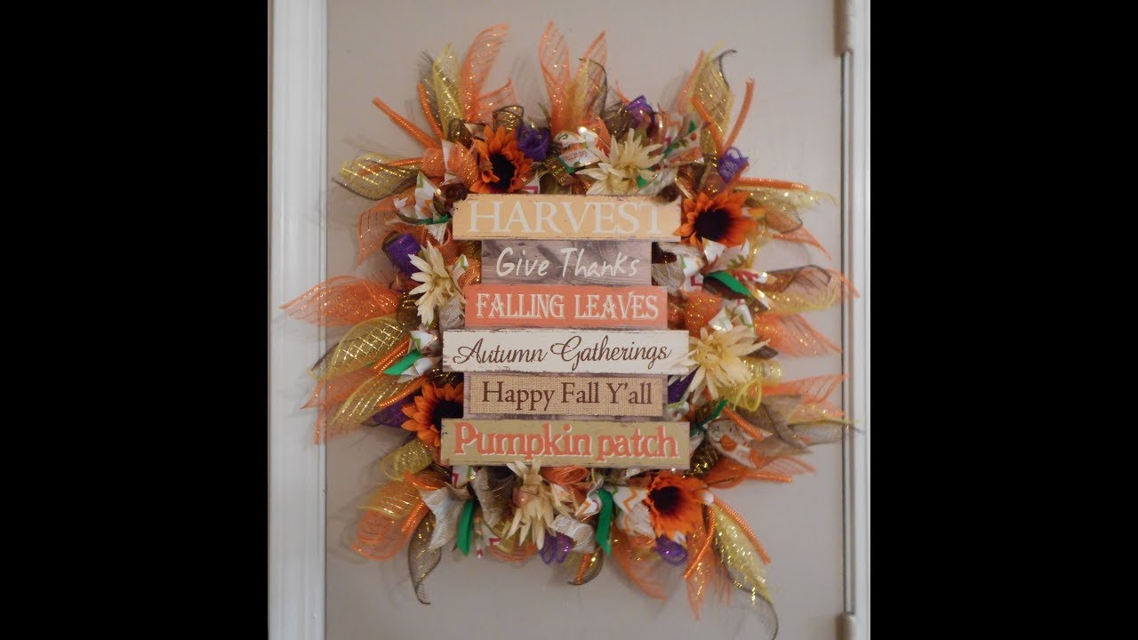 Dollar Tree Diy Fall Wreath Using Picture Frame Youtube