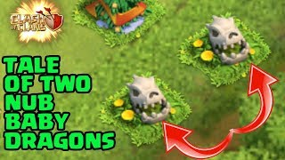 Clash of Clans Funny | A Tale Of Two Nub Baby Dragons | Introducing BatBarb |