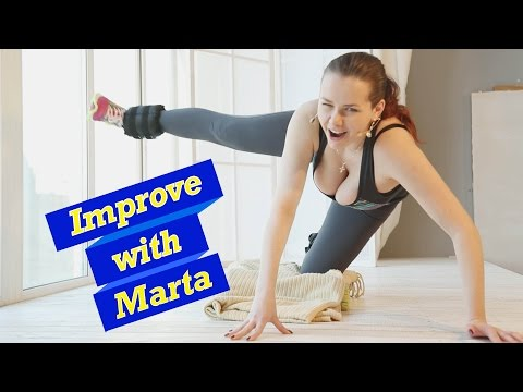 Slow swing straight leg to the shoulder on the ground - Improve With Marta