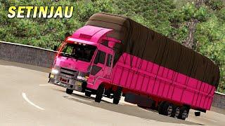 Aksi Truk Tribal Panjang di Sitinjau Lauik Sumatra - Euro Truck Simulator 2