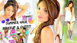 Cute Summer Hair, Sweat Proof Makeup, and Outfit! Belinda Selene