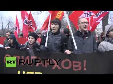 Russia: Moscow sees 500 rail against 'Rotenburg Law and oligarchy'