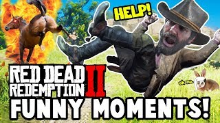 ATTACKED BY A GLITCHED TELEPORTING HORSE! (Red Dead Redemption 2 Funny Moments)