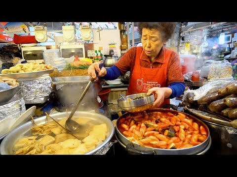 KOREAN STREET FOOD - Gwangjang Market Street Food PART 2 | SPICY Korean Food in Seoul South Korea