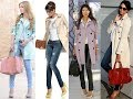 Chic way to pair colored trench coat