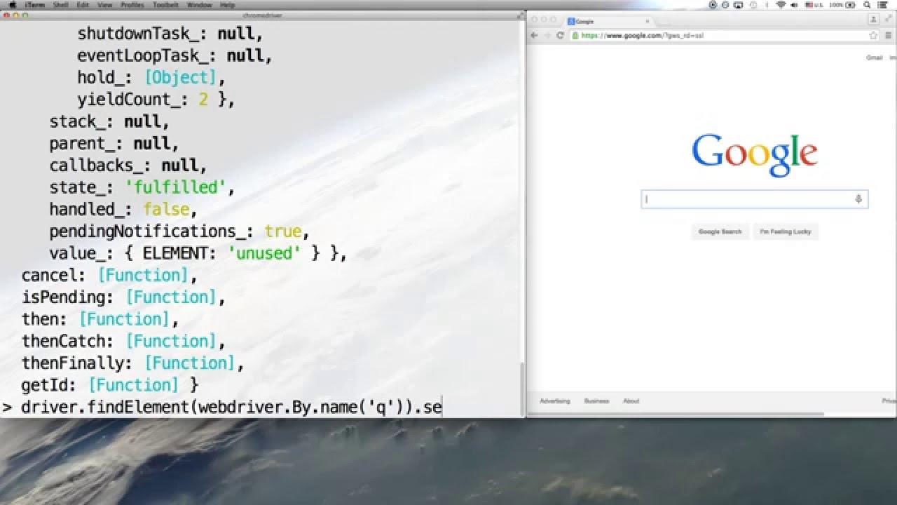 Introduction to WebDriverJS — Selenium WebDriver for Node js