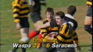 WASPS beating  Saracens to clinch title 1990