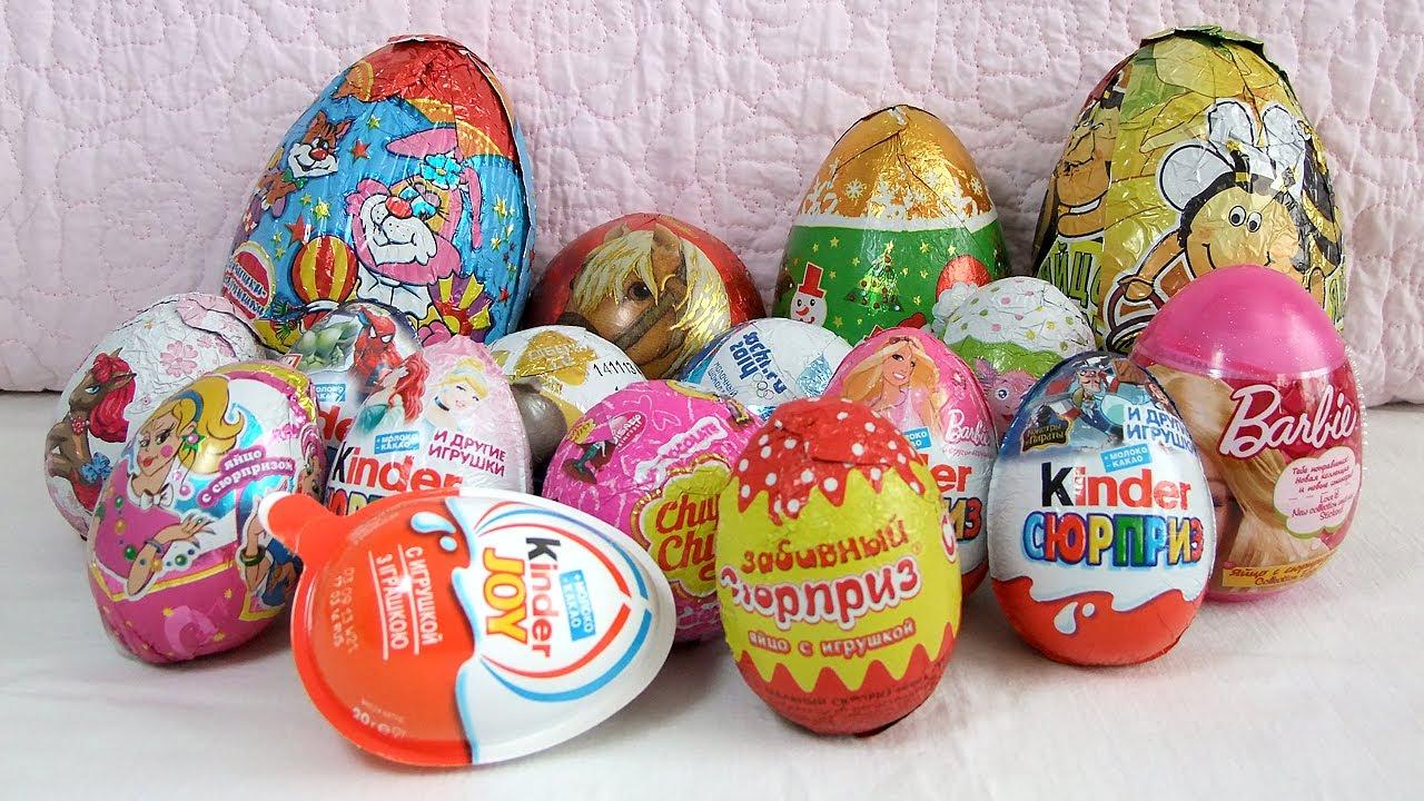 відео про сюрприз яйця