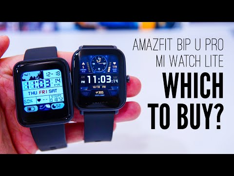 Mi Watch Lite vs Amazfit Bip U Pro: BEST BUDGET SMARTWATCH (with GPS) BATTLE!