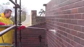 How to acid clean bricks with a pressure washer