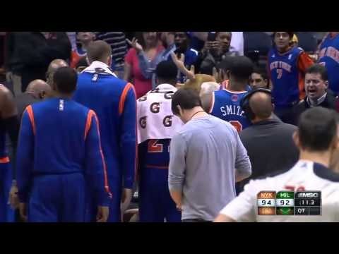 Andrea Bargnani terrible play at the end of Knicks Bucks 12 18 13