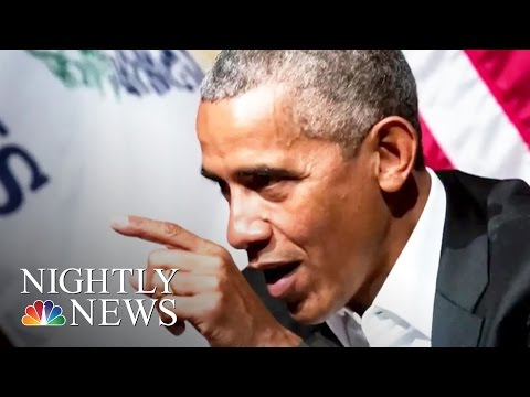 President Barack Obama Returns To The Public Forum During Chicago Event | NBC Nightly News