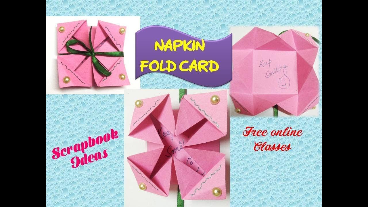 DIY Napkin Fold Card For Scrapbook Tutorial Scrap Book 3