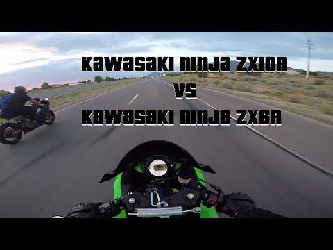 Zx10r Vs Zx6r 636 Youtube