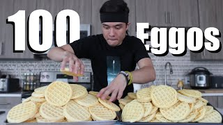 Download 100 Eggo Waffle Challenge DESTROYED Mp3 and Videos