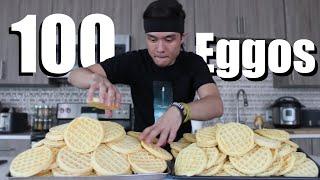 100 Eggo Waffle Challenge DESTROYED